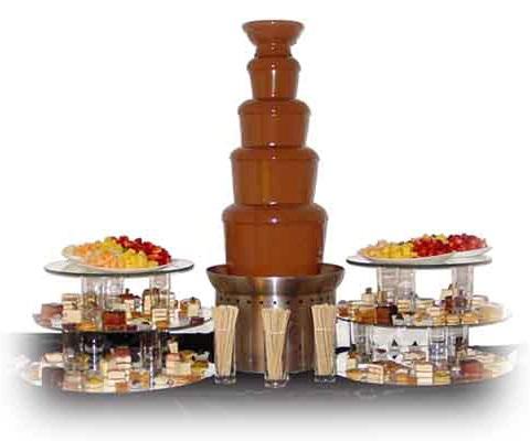 Фотография шоколадного фонтана